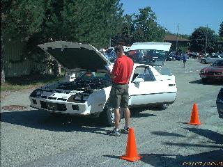 The Berlinetta getting a thorough inspection at the 2002 Fall Classic