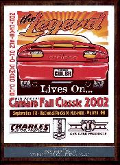 The 2002 Fall Classic 1st place plaque